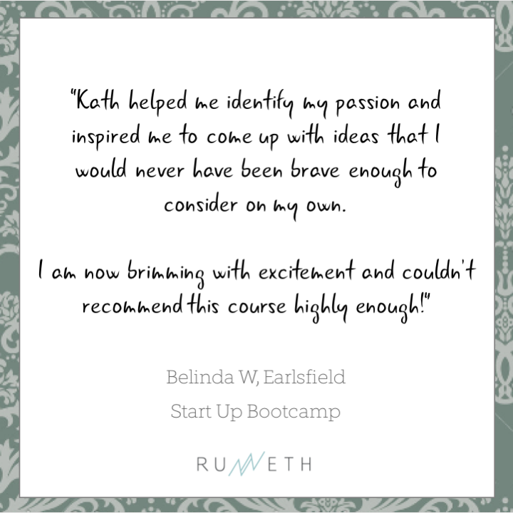 Customer Review by Belinda W for Runneth's Start Up Bootcamp